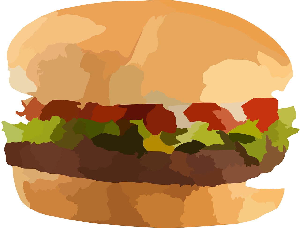 hamburger, food, burger